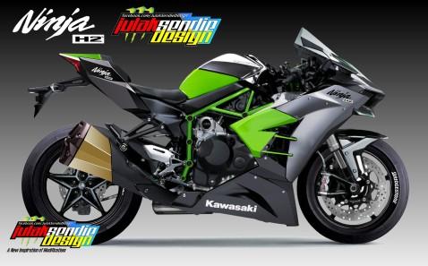 Kawasaki Ninja H2 Full Fairing Concept-sendie