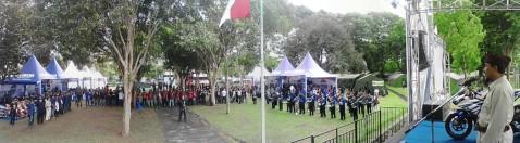 Upacara Bendera Merah Putih di Jambore Nasional ke-2 YRFI